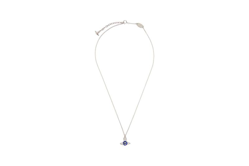 vivienne westwood silver crystal small orb pendant necklace hecuba ornella double-sided pendant brass swarovski crystal perspex