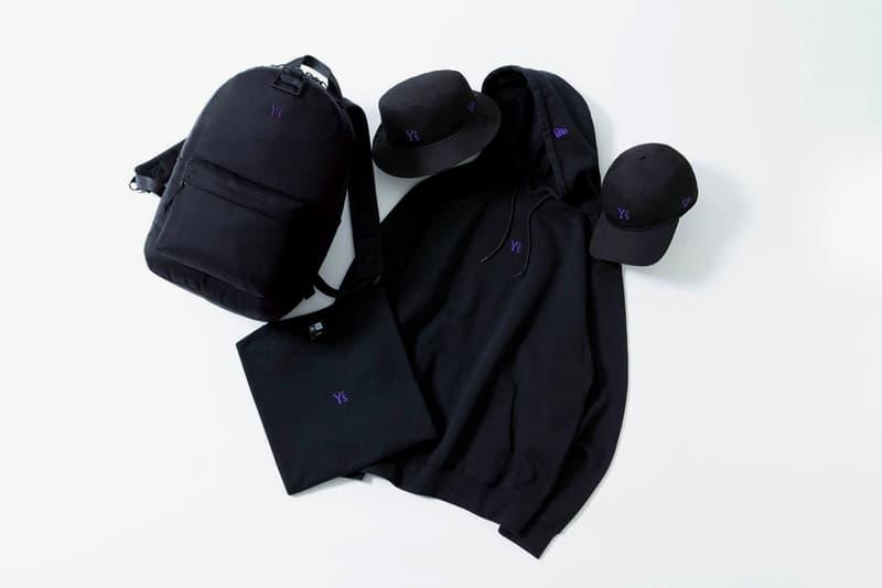 Yohji Yamamoto Y's x New Era SS20 Capsule Collaboration spring summer 2020 hat backpack shirt hoodie
