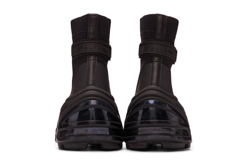 1017 ALYX 9SM Black Mid Sock Boots menswear streetwear shoes sneakers footwear spring summer 2020 collection matthew m williams trainers runners Made in Italy nlyon calfskin