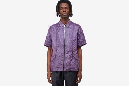 1017 ALYX 9SM Drops Sleek Crinkle-Effect Nylon Shirt for SS20