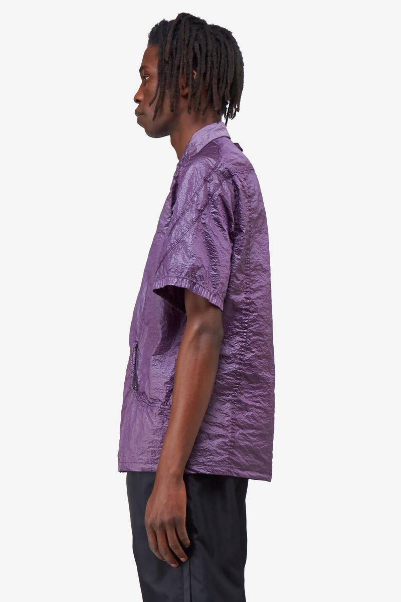 1017 ALYX 9SM Purple Crinkle-Effect Nylon Shirt Release Info LN-CC where to buy matthew m. williams silver-tone metal zipper