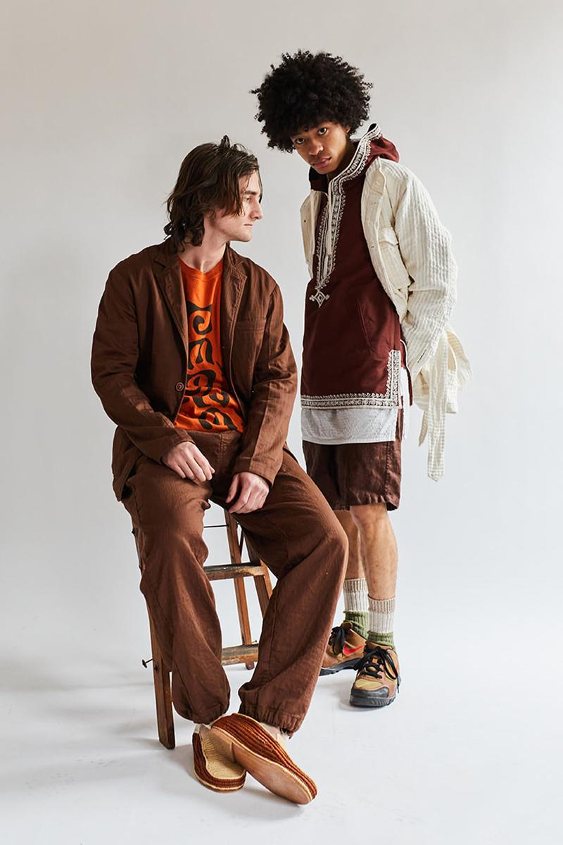 18 East March Lookbook Collection Khadi Gorecki cargo pants button down shirts T-shirts shorts crewnecks bucket hats jaipur india tangier morocco