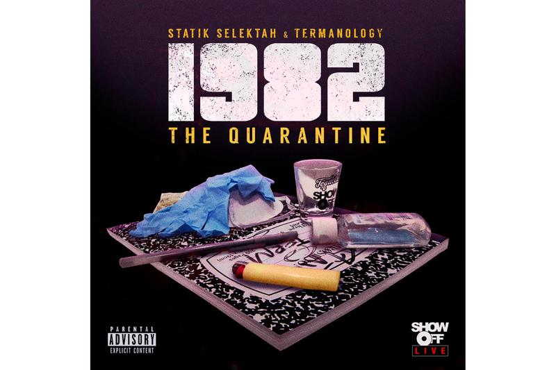 1982 'The Quarantine' Album Stream  boom bap nyc hip-hop rap spotify apple music 1. Pandemic 2. Relatable ft. Kota The Friend & CJ Fly 3. Another Day ft. Ufo Fev & Marlon Craft 4. This Too Shall Pass ft. Grafh & Haile Supreme 5. Love Don't Stop ft. Nems 6. All Facts 7. Morphine ft. Lil Fame 8. Walk With Me ft. Lil Fame & Tek 9. You Know What Time It Is ft. JFK 10. Does It All Even Matter ft. Allan Kingdom & Stat Diddy