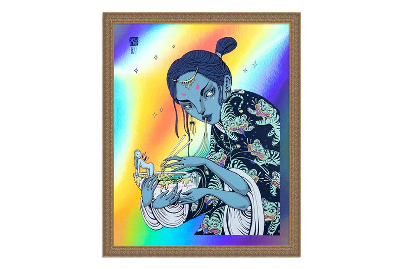 1xRUN International Women's Day Limited Edition Print Collection Tigers Sharks Waves Noodle Bowls Bees Flowers