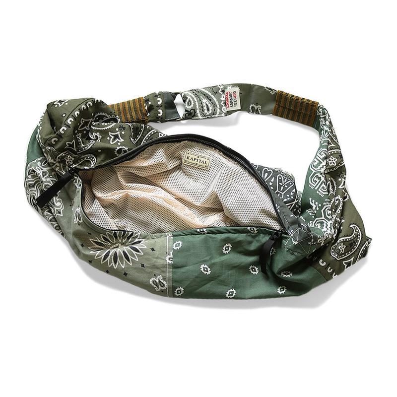 KAPITAL Vintage Gauze Bandana Beach Bum Bag Release 2020 Where to Buy