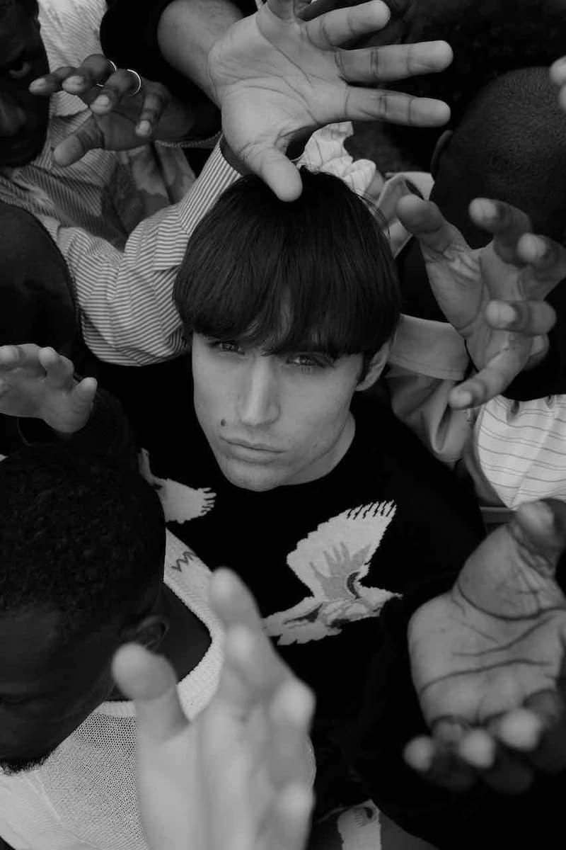 "3.PARADIS Spring/Summer 2020 ""Three Little Birds"" Collection Fashion Story Lookbook Imagery Campaign Menswear Identity Diversity Culture Outerwear Sweaters T-Shits Graphic Prints Release Information First Look Rashidi Noah ahuel Serrano, Coco Diarra, Cheikne Traore, Basil Ekang, Ivan Lefort Adam Mickael"
