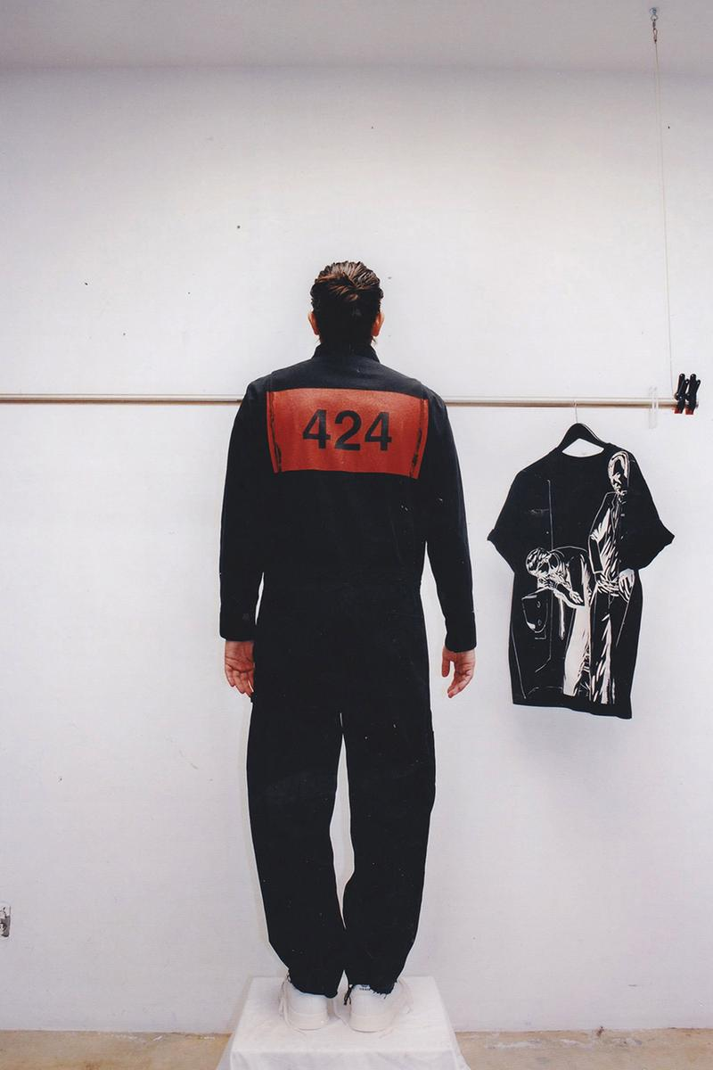 "424 Spring/Summer 2020 'American Psycho' Collection Patrick Bateman Lookbook Christian Bale Menswear Horror Film Inspiration ""Insane"" Denim Prints Graphics"