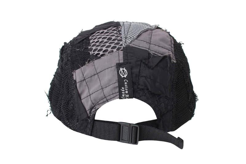 99%IS- 99percentis Drops Custom Handmade Patchwork Cap in Black one of one hat headwear accessories bajowoo korean fashion mesh nylon panels stitching LIVE MY L1FE