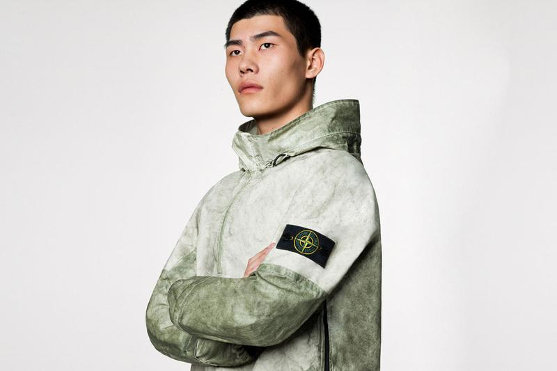 stone island spring summer 2020 ss20 MEMBRANA + OXFORD 3L WITH DUST COLOR FINISH 721541628 721530628