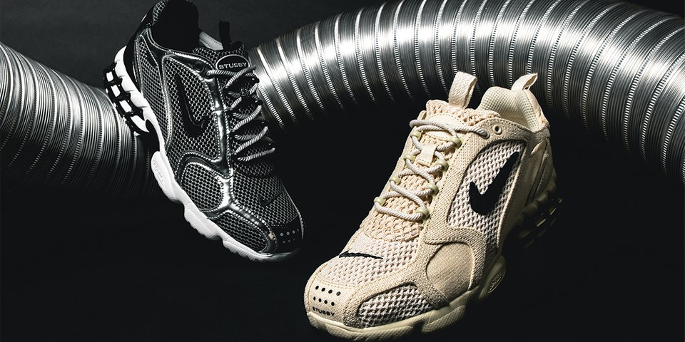A Closer Look at the Stüssy x Nike Air Zoom Spiridon Caged 2 Pack