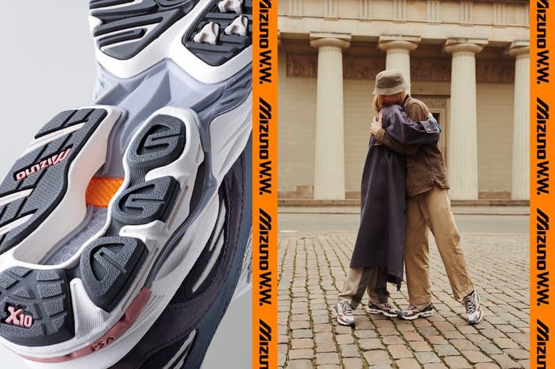 Wood Wood x Mizuno Wave Rider 10 SS20 Colorway Fall/Winter 2020 Runway Collaboration Sneaker Launch Release Information Exclusive Official First Look Drop Date Stores Japan Copenhagen Tech Retro Runner