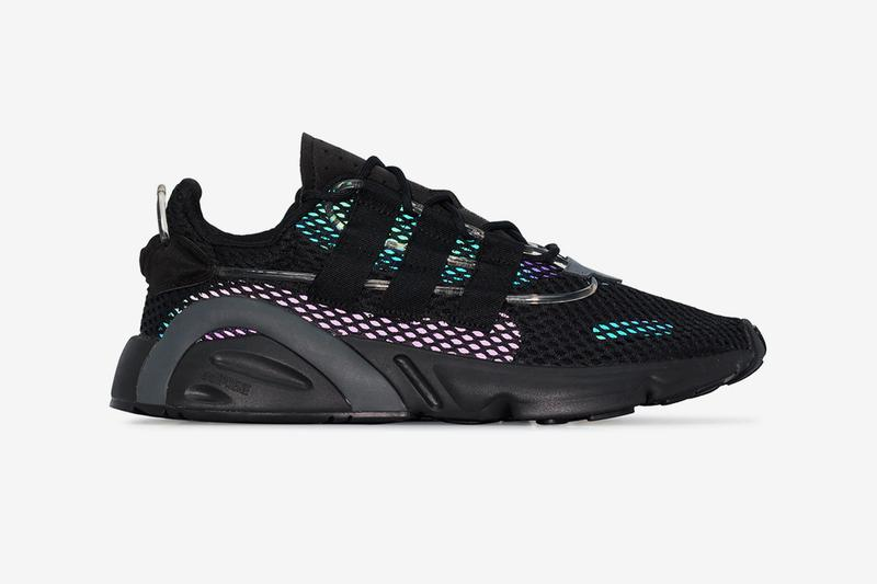 adidas LXCON Core Black Multi shoes sneakers footwear kicks trainers runners menswear streetwear spring summer 2020 collection teal purple iridescent mesh 1990 silhouette