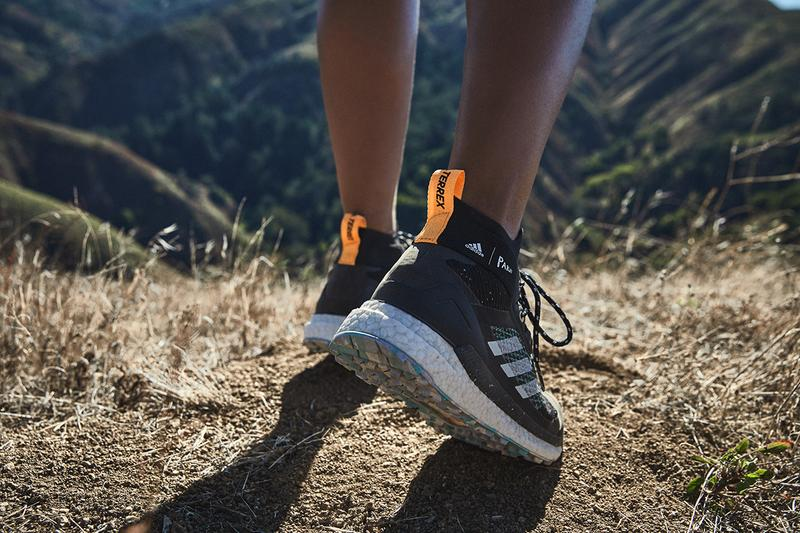 adidas Terrex Free Hiker Parley Release Information First Look Outdoors Shoe Footwear Sneaker News Drop Date High Top BOOST Technology Parley Ocean Plastic Yarn upcycled waste sustainability hiking boot