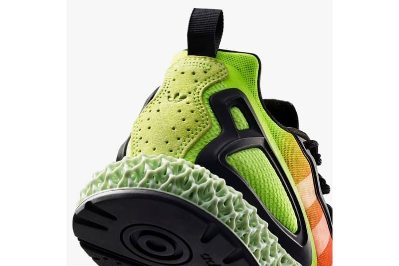 "adidas ZX 2K 4D ""Red/Orange/Yellow"" Heatmap Inspired 4D-Printed Oxygen Light Energy Return Sole Unit Sneaker Three Stripes Footwear Drops Release Information Closer Look"