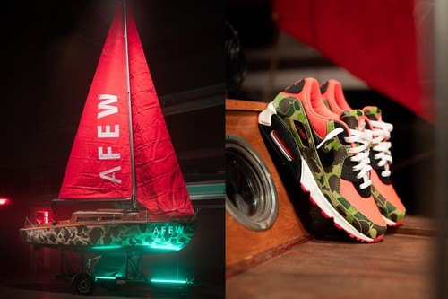 """Afew Sets Sail With """"Reverse Duck Camo"""" Boat for Air Max Day"""