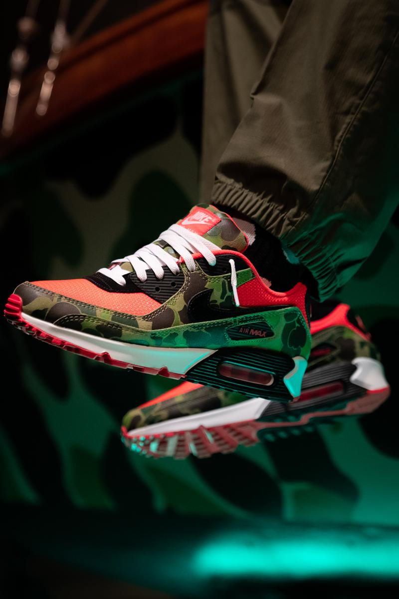 afew nike sportswear air max day 2020 90 2090 reverse duck camo boat charity raffle release date info photos price