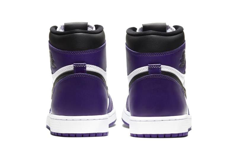 Air Jordan 1 Retro High OG Court Purple Official Look 555088-500 Release Info Black White Brand 575441-500