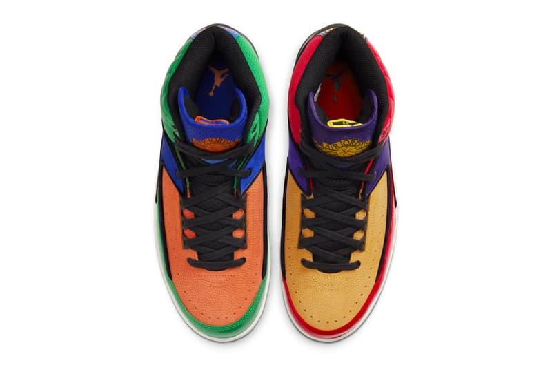 Air Jordan 2 Multi-Color release info menswear streetwear spring summer 2020 collection footwear sneakers shoes trainers kicks runners basketball shoes michael jordan 23 color blocked