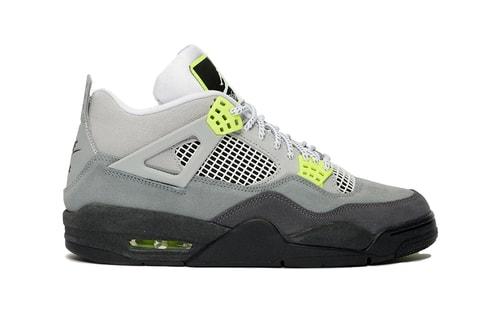 """The Air Jordan 4 Channels the Classic Air Max 95 """"Neon"""""""