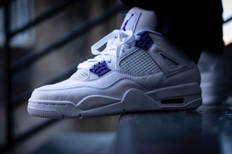 Air Jordan 4 Court Purple Images Release Date CT8527 115 nike air jumpman white brand leather metallic