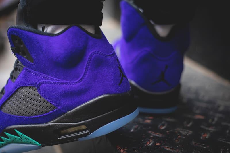 air jordan 5 alternate grape purple aqua black 136027 500 release date info photos price