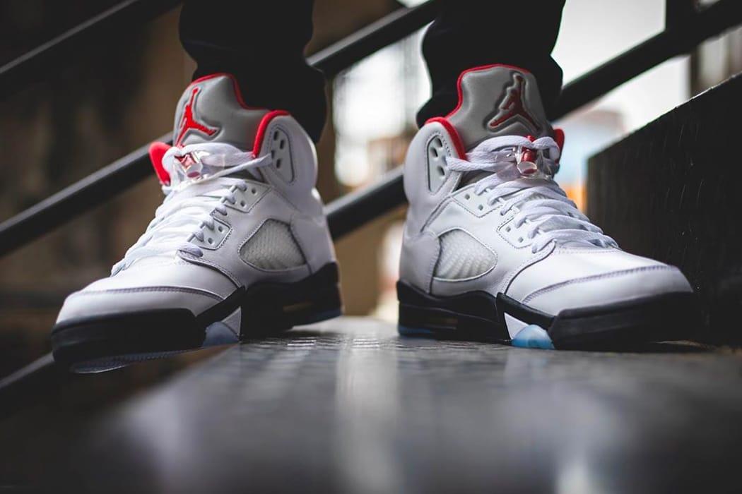 "Air Jordan 5 ""Fire Red"" Retro Release"