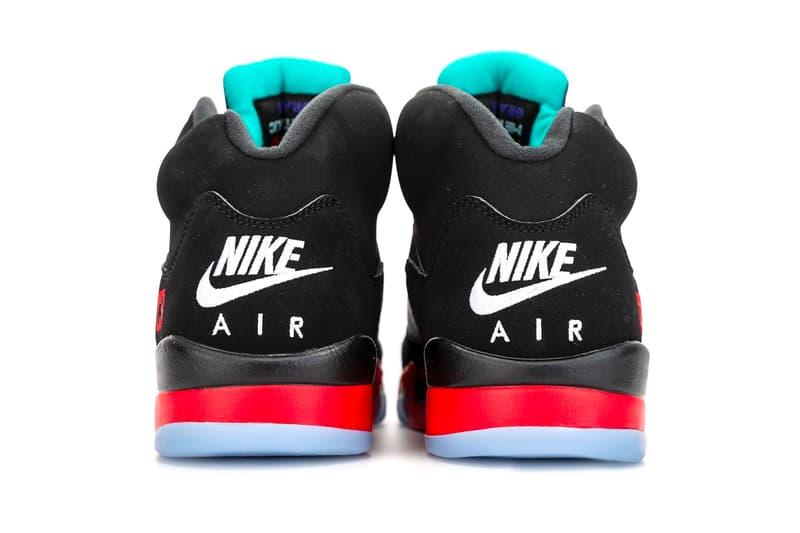 Air Jordan 5 Top 3 Better Look CZ1786-001 Release Info Date Buy Price Black Fire Red Grape Ice New Emerald Metallic