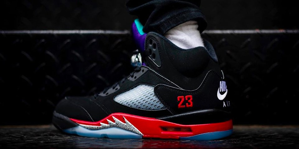 "Take an On-Foot Look at the Air Jordan 5 ""Top 3"""
