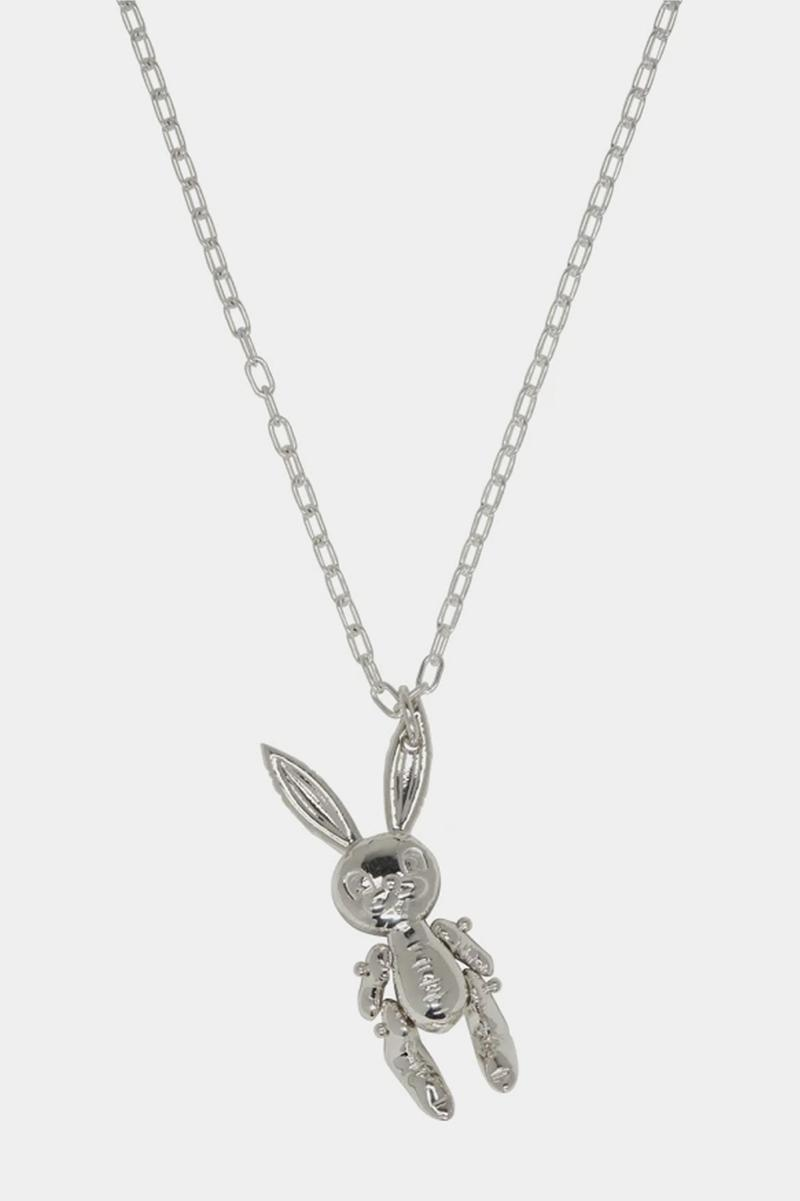 AMBUSH Teddy Bear & Bunny Earrings & Necklaces Silver Jewelry Drop Yoon Ahn SSENSE Release Information Unisex Accessories rabbit charm inflatable bunny .925