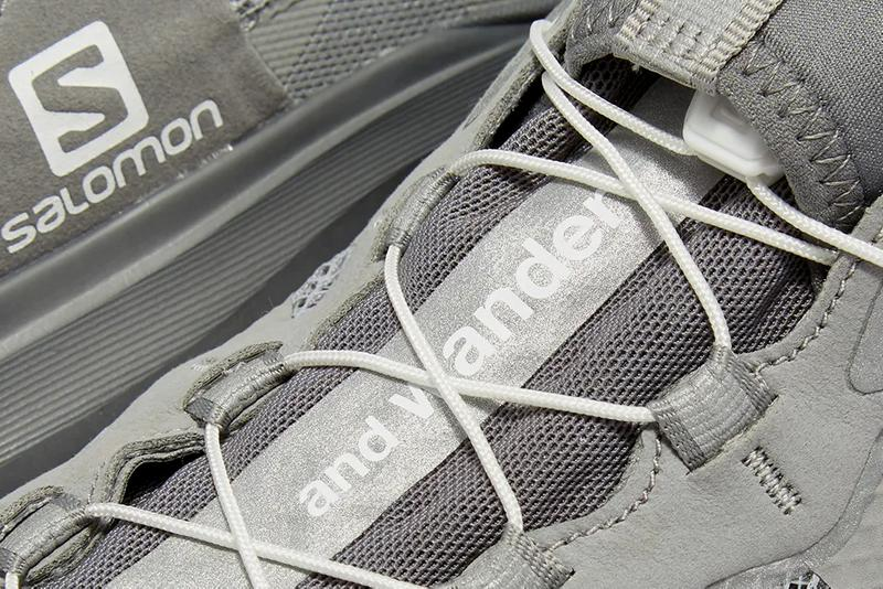 and wander salomon reflective mesh sneaker grey white release date info photos price