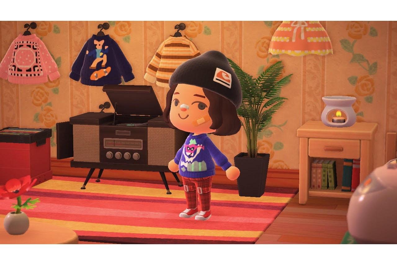 animal traversant de nouveaux horizons instagram design de mode vêtements kara chung streetwear suprême stussy dior louis vuitton designer apc visvim nintendo commutateur