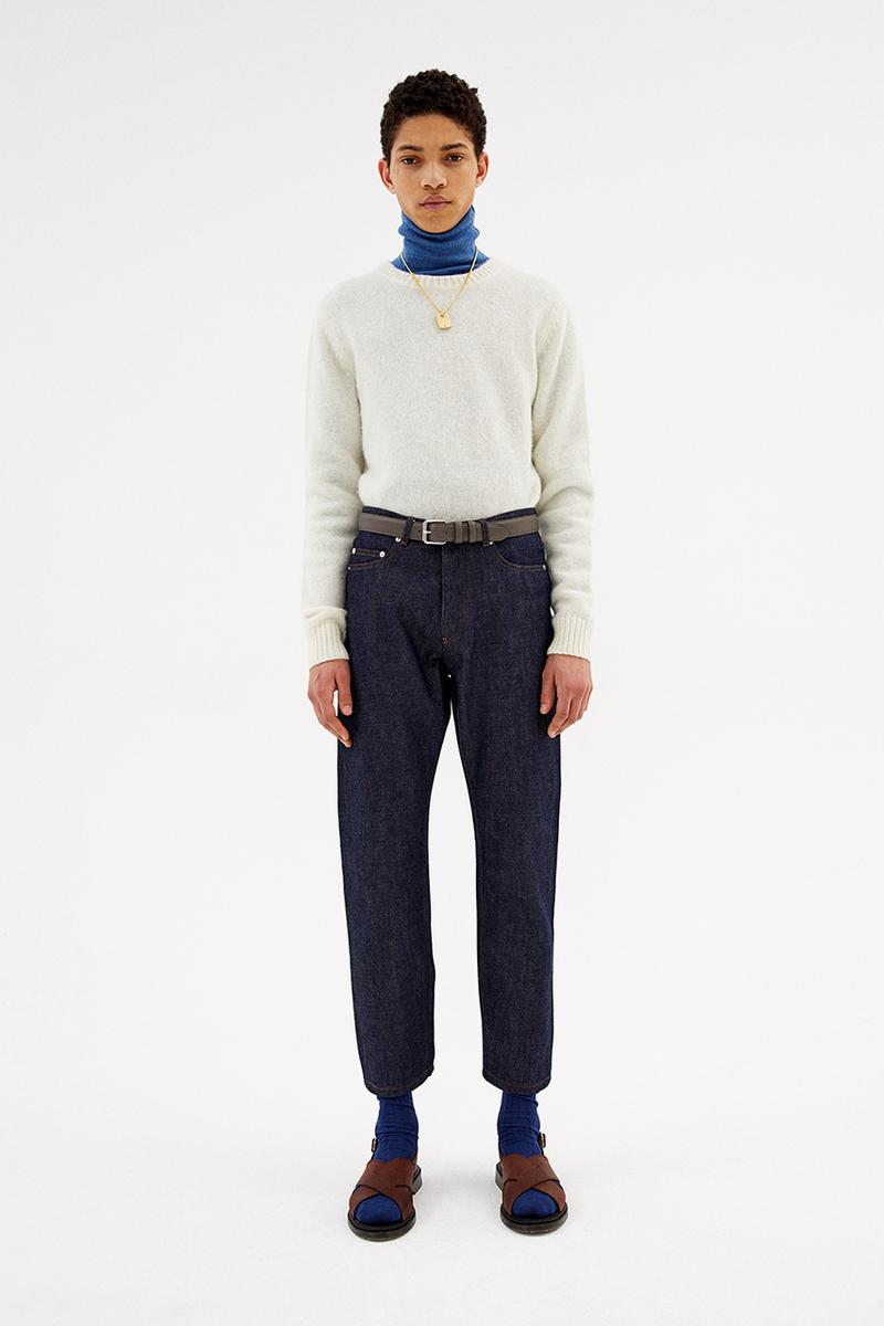 a p c paris fall winter 2020 jean touitou collection lookbook knitwear denim jeans release information paris first look
