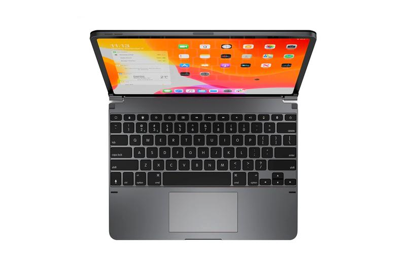Turn Your iPad Pro Into a MacBook With This Accessory brydge pro+ keyboard trackpad aluminum ipados