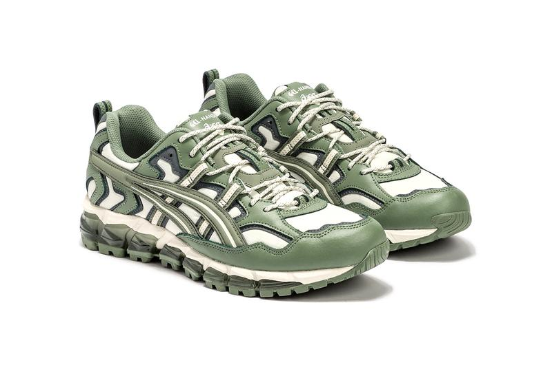 "ASICS GEL-Nandi 360 ""Tree Camo"" HBX Release Information Closer Look Cop Online Footwear Sneakers Ripstop Nylon Leather Overlays Khaki Green"