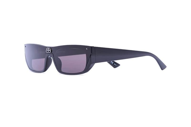 Balenciaga Rectangular Logo Sunglasses Release Info Buy Price Silver Black Blue