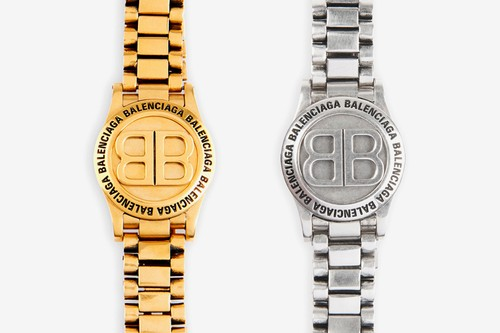 "Balenciaga Crafts a Watch-Inspired Time Bracelet in ""Gold"" & ""Silver"""