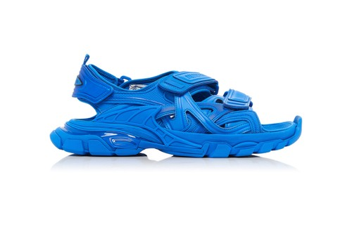Balenciaga Track Sandal Appears In Vivid Blue Colorway