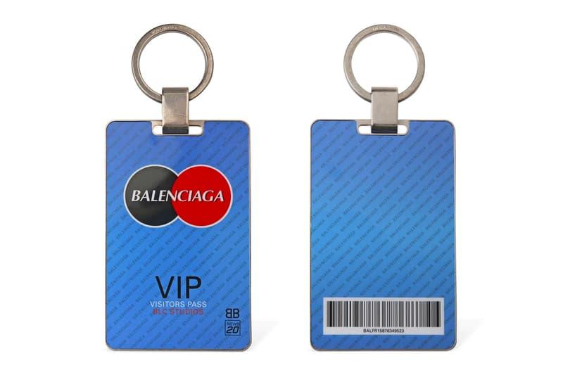 Balenciaga Visitor Plate Key Holder Release Info Buy Price Mastercard Logo