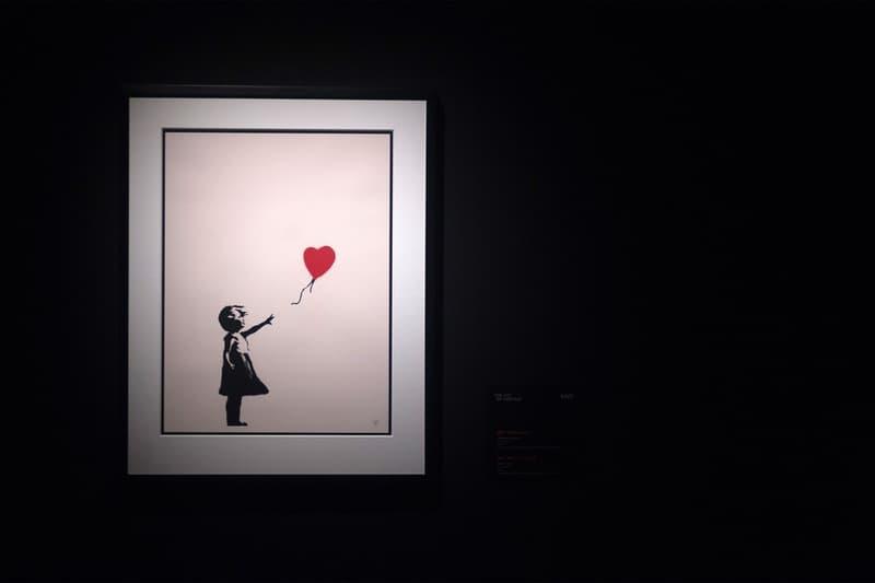 banksy anonymous artist graffiti motif girl with balloon sothebys auctions online artwork art sale