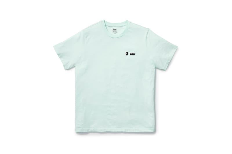 BAPE Miami & Levi's Spring/Summer 2020 Collaboration Collection Type III Split Trucker Jacket Indigo Camouflage Blue Pink Indigo Denim Cotton T-shirt