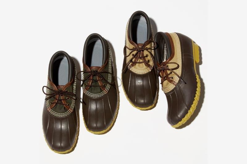 BEAMS PLUS L L Bean Canvas Gumshoes campus rubber waterproof water resistant shoes footwear menswear streetwear trainers rugged hunting outdoors gum sole sartorial bespoke