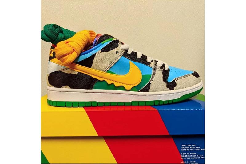Ben & Jerry's x Nike SB Dunk Low Teaser  ice cream American milk cows  skateboarding pony hair collaborations shoes chunk monkey