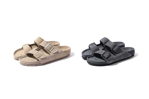 "BEAMS & Birkenstock Wrap the Arizona Sandal in ""Taupe"" & ""Grey"" Suede"