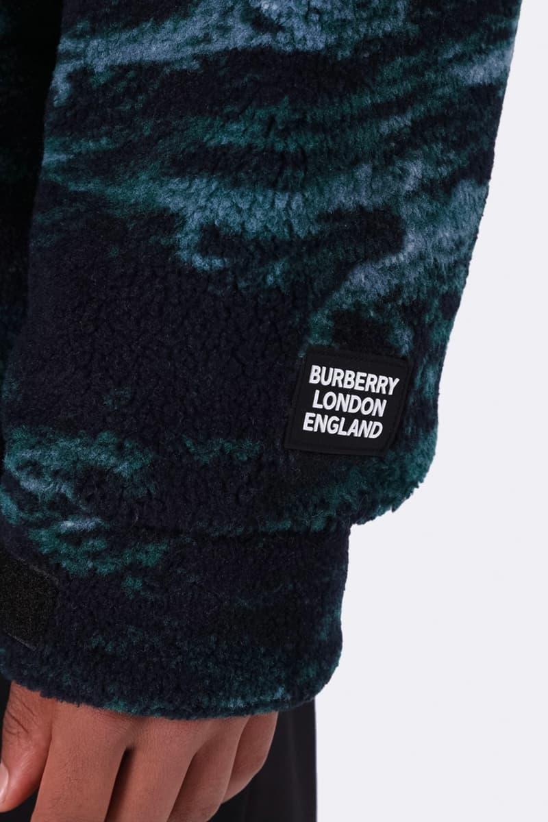 Burberry Sea Landscape Print Fleece Jacket Release 8023809 the webster