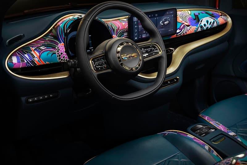 "BVLGARI x Fiat 500 B.500 Mai Troppo All Electric EV Cars Jewels Gems ""Imperial Saffron"" Paint Leonardo Di Caprio's environmental organizations auction charitable"