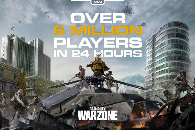 call of duty modern warfare warzone 6 million players 24 hours one day launch release activision battle royale 15 three days 3