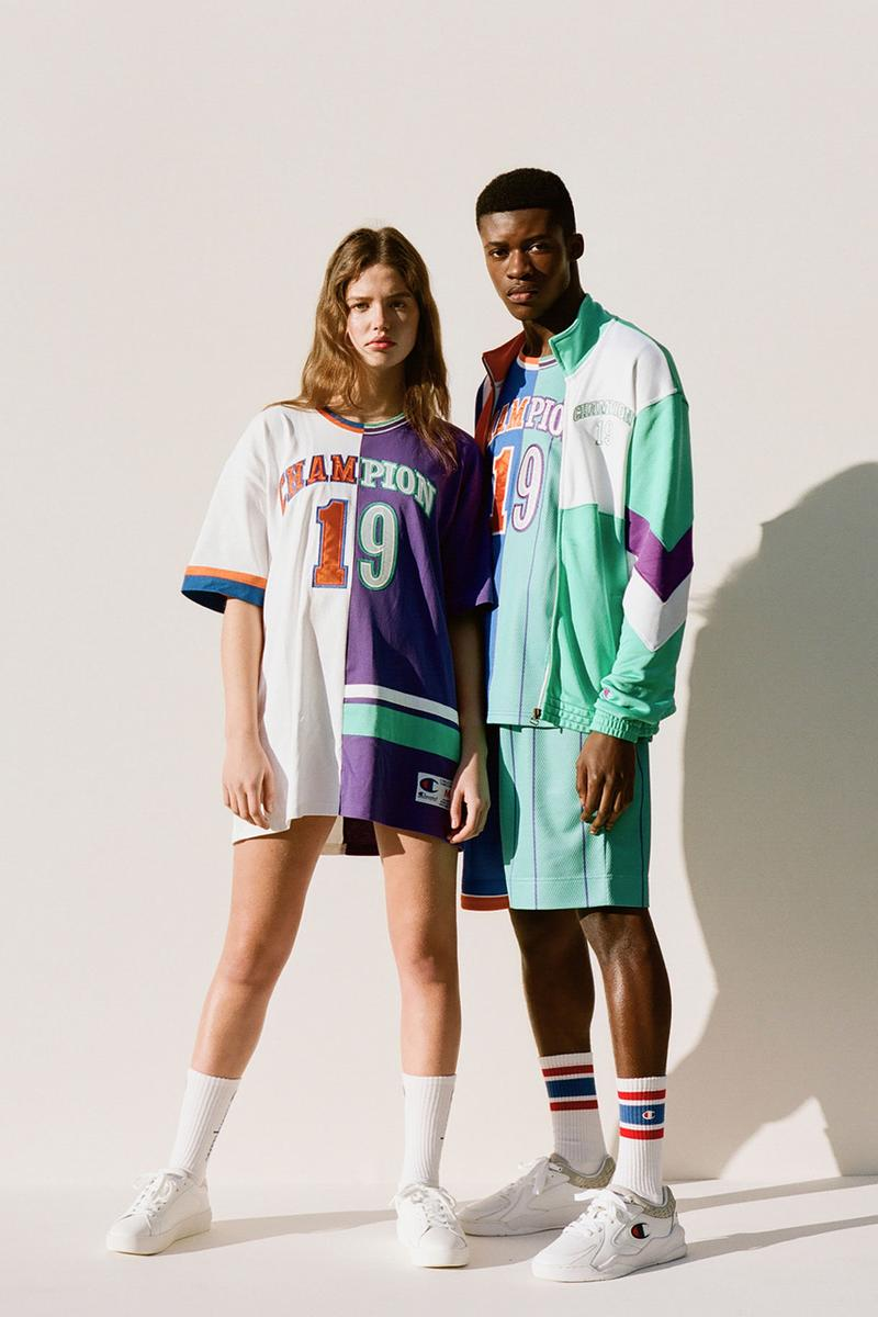 Champion Spring/Summer 2020 Premium Collection lookbook reverse weave football jerseys cut mix and match neon colors release information buy cop purchase