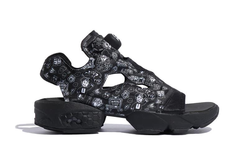 chocomoo reebok instapump fury slide sandal FW6018 black white t shirt long sleeve sweatpants release date info photos price
