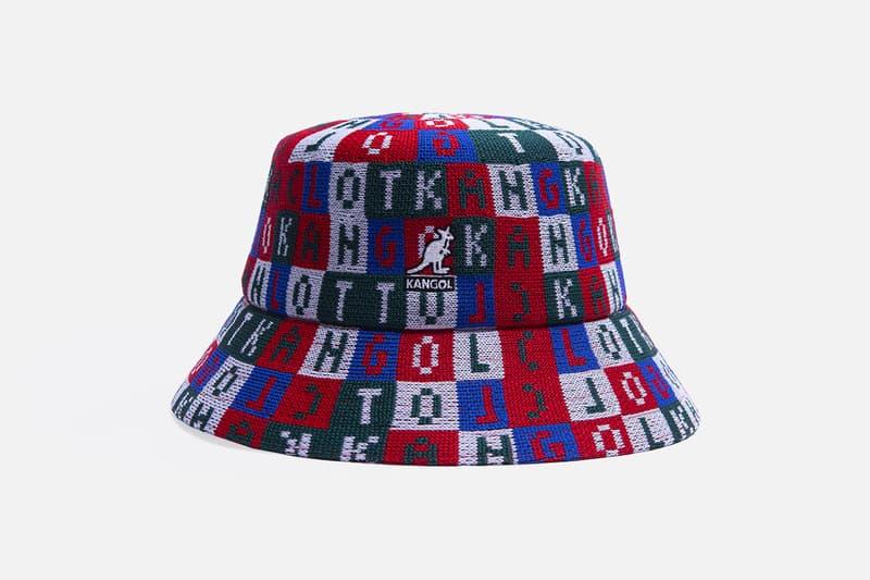 CLOT x Kangol Four-Piece Hat Collection Bucket Hats Baseball Caps Silk Royale Design Cube Pattern Red Black Green Blue