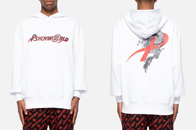 CLOT Psychworld Capsule Collection Release Info Zip Up Hoodie T-shirt Black White Red Blue Dragon